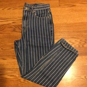 Mom jean (white stripes) AE
